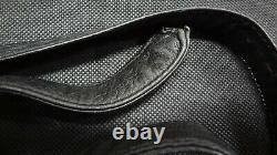 Tiffany & Co Vintage 1975 ELSA PERETTI Sterling Silver Buckle Black Leather Belt