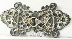 Victorian Antique Sterling Silver Cherub Angel Belt Buckle