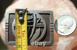 Vintage ARTHUR LOMAYESTEWA HOPI OVERLAY BELT BUCKLE signed sterling silver