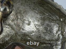 Vintage Genuine Alligator B Kieselstein Cord Sterling Silver Frog Belt Buckle