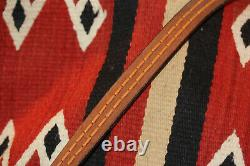 Vintage Sand Cast Sterling Silver Navajo Buckle And Leather Belt F. L. Begay