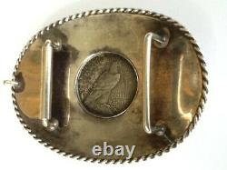 Vintage Sterling Boyd Belt Buckle-Silver Dollar