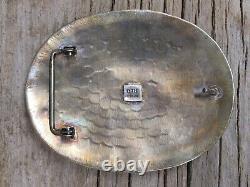 Vintage Sterling Silver Rodeo Trophy Belt Buckle 1987