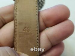 Vintage Tiffany & Co. Sterling Silver Reptile Design Leather Men's Belt