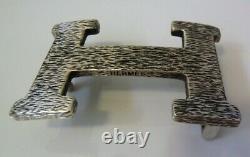 Vintage rare Hermes Sterling Silver 925 Touareg Belt Buckle H
