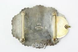 Vogt Silversmiths Mexico Sterling Silver Western Style Belt Buckle