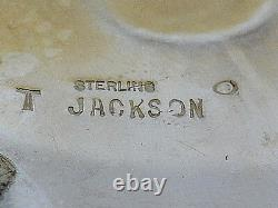 XL TOMMY JACKSON signed BELT BUCKLE Navajo GEM FOX TURQUOISE Sterling Silver